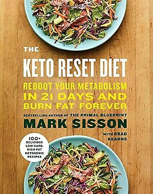 The Keto Reset Diet  Reboot Your Metabolism In 21 Days And Burn    Free Shipping