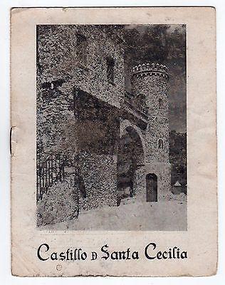 1940s CASTILLO DE SANTA CECILIA Guanajuato Mexico BOOKLET Travel MEXICAN MX