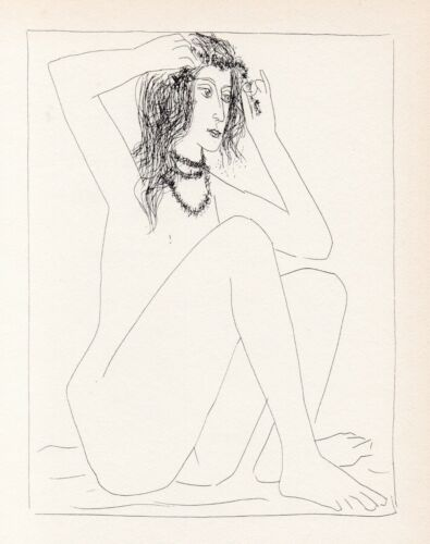 Pablo Picasso, Nude Woman Crowning Herself with Flowers, Vollard Suite