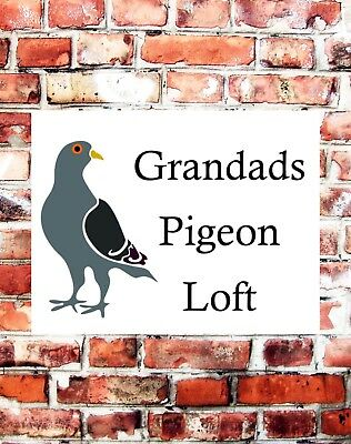 METAL SIGN GRANDADS PIGEON LOFT NOVELTY SIGN GIFT BIRTHDAY SHED DADS
