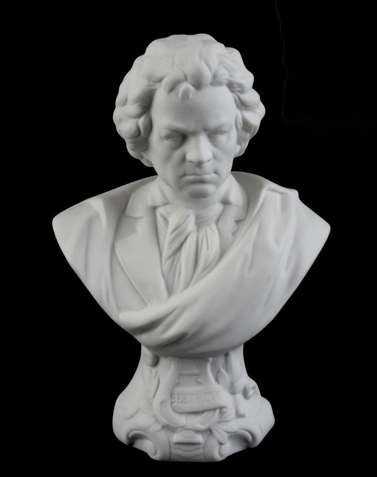 a3-44079  Figurine Bust Ludwig van Beethoven Bisque Kämmer-Porcelain H19CM