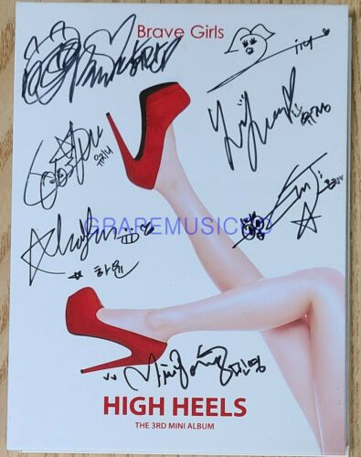 BRAVE GIRLS HIGH HELLS 3RD MINI K-POP REAL SIGNED AUTOGRAPHED PROMO CD