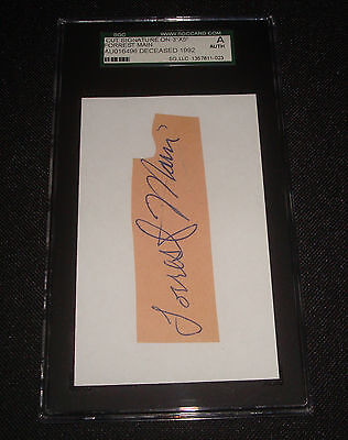 Forrest Woody Haupt 1948 1953 Piraten Unterzeichnet Gerahmt Schnitt SGC ()