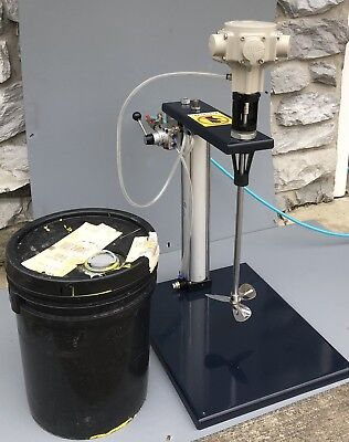 Paint Air Power Mixer With Air Lift 5 Gallon Pail Pneumatic Lift Power