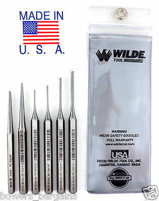 Wilde Tool 6pc Gunsmith Punch Set MADE ...