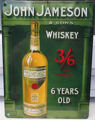 JAMESON IRISH WHISKEY WHISKY OLD VINTAGE STYLE PUB BAR POOL SIGN DUBLIN IRELAND