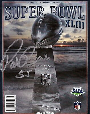 Pittsburgh Steeler Patrick Bailey autograph signed Super Bowl XLIII program auto