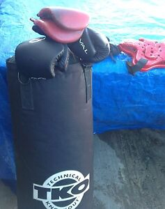 Boxing Gear and Punching Bag