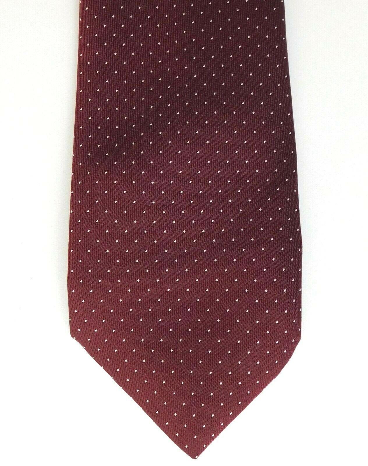 Tootal tie polka dots red with white spots made in England 1980s