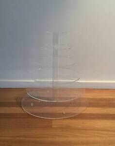 USED- 6 TIER ROUND ACRYLIC CUPCAKE STAND Marrickville Marrickville Area Preview