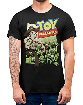 Toy Story ALIEN ZOMBIES Halloween T-Shirt Adults Sizes Black 100% Cotton Shirt