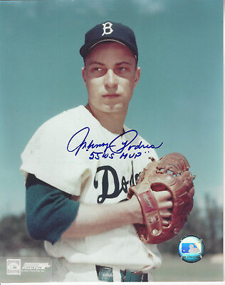 Brooklyn Dodgers Johnny Podres autographed 8x10 posed  photo 55 WS MVP Added (Brooklyn Dodgers 8x10 Photograph)