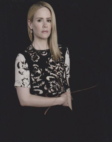 Sarah Paulson Signed American Horror Story 10x8 Photo AFTAL