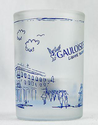 Gauloises Tabak, Weiß satiniertes Windlicht mit Pariser Sehenswürdigkeiten
