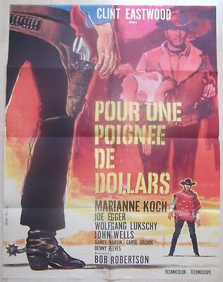 """""""A FISTFUL OF DOLLARS"""" Vintage French Film Poster - POUR UNE POIGNEE DE DOLLARS for sale  Swansea"""