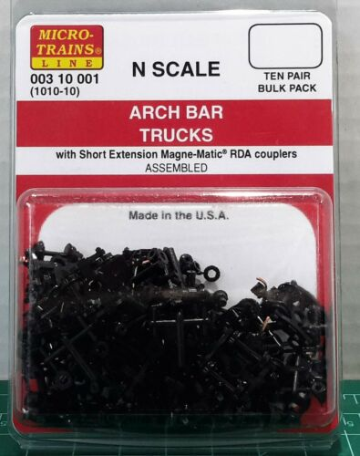 N Scale Micro Trains Arch Bar Trucks TEN Pair Assembled Item #00310001 (1010-10)