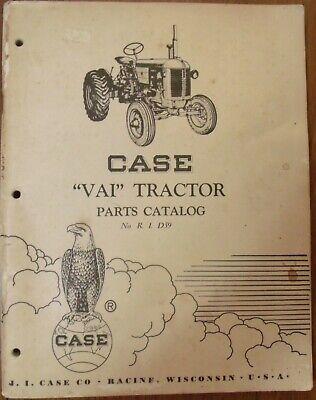 Case Vai Tractor Parts Catalog No.r. I. D59 Used