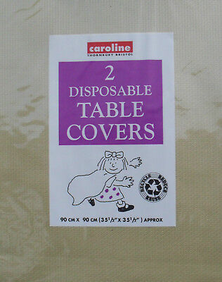 Paper Table Cloth Pack 2 Disposable Party Table Covers Gold 3ft x 3ft Caroline](Paper Table Cloth)