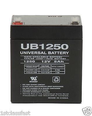 AMP 12VOLT 5AMP Hour Rechargeable Sealed Lead Acid DEEP-CYCLE Battery 12V 5AH SLA