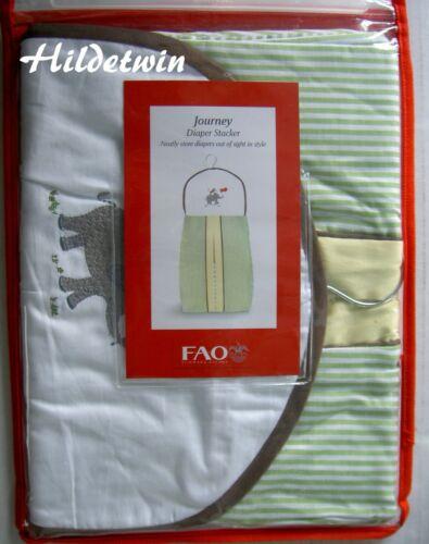 FAO SCHWARZ JOURNEY DIAPER STACKER LIGHT GREEN WHITE STRIPED BABY ELEPHANT NIP