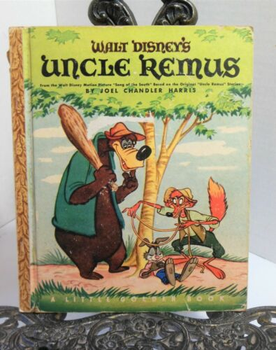 """Walt Disney Presents Uncle Remus """"A"""" Little Golden Book 1947 Song Of The South"""