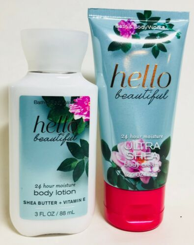 *New* HELLO BEAUTIFUL ~  2PC TRAVEL GIFT SET ~ Bath & Body Works ~ FREE SHIP!