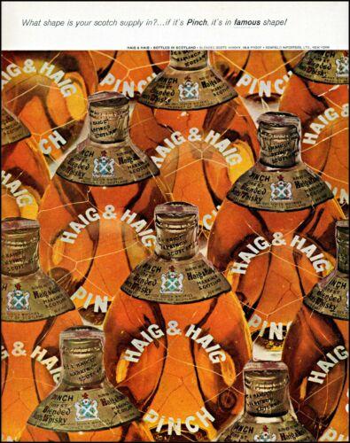 1961 Haig & Haig Scotch whisky Scotland bottle art vintage photo print ad adl80