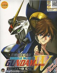 Mobile Suit Gundam Wing (TV 1 - 49 End) + Movie Complete Anime DVD English Dub