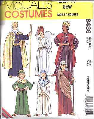 8436 Uncut Mccalls Muster Kinder Bibel Kostüme König Weihnachten Ostern (Bibel Kostüm Muster)