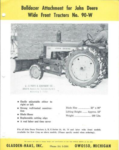 Equipment Brochure - Gladden-Haas - Bulldozer for John Deere Tractor (E5422)