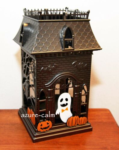 NWT Bath & Body Works HAUNTED HOUSE MANSION 3-wick Metal Candle Holder Luminary