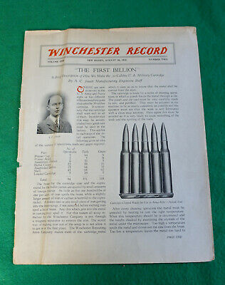 Vintage 1918 Winchester Record Magazine - Volume 1, Number 2