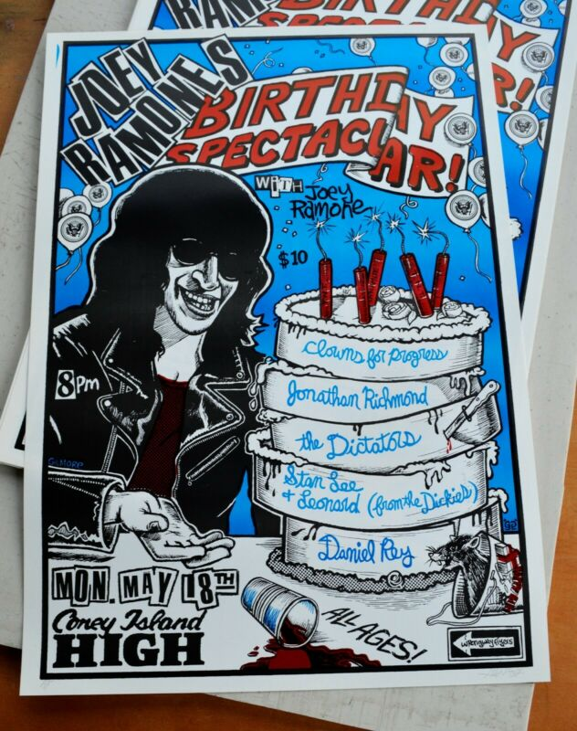 Joey Ramones Birthday Concert Poster Jonathan Richman The Dictators The Dickies