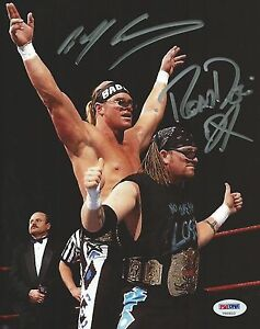 DX-The-New-Age-Outlaws-Billy-Gunn-Road-Dogg-Signed-WWE-8x10-Photo-PSA-DNA-COA