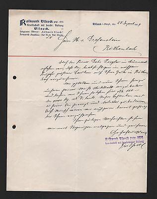 VILSEK, Brief 1909, Kalkwerk Vilseck GmbH