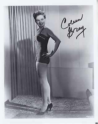 COLEEN GRAY (1922-2015) hand signed 8x10 photograph ] photo autographed
