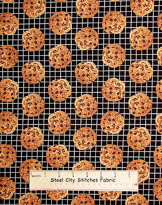 Chocolate Chip Cookie Fabric ~ Cotton By The Yard ~ Windham In The Mix - Chocolate Chip Cookie Mix