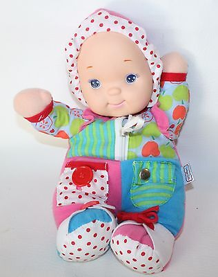 Zip Ity Doll Dolly Zip Button Snap Buckle Plush Stuffed Lovey Interactive