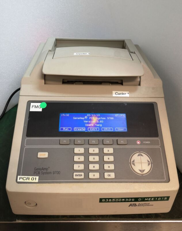 12766 Applied Biosystems Geneamp Pcr System 9700 Thermalcycler N8050200