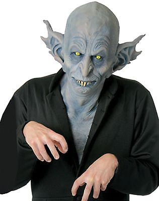 Horrifying Halloween Costumes (Halloween Costume HORRIFYING NOSFERATU Deluxe Latex Mask Haunted House)