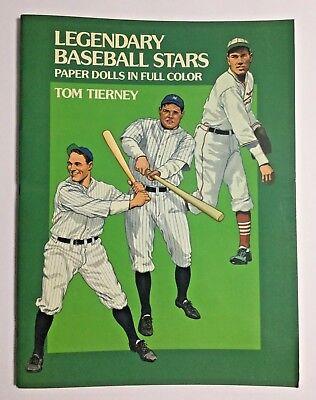 Vintage Baseball Player Costume (Legendary Baseball Stars Paper Dolls UNCUT Vtg 1985 16 Players 32)
