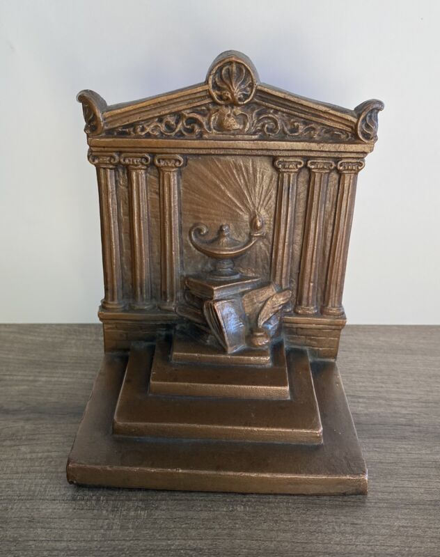 Antique Weidlich Bros. Bookend Temple Of Knowledge WB 640