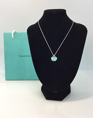 Tiffany & Co. Double mini Heart Tag with Blue Enamel (Tiffany And Co Blue)