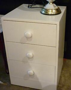 White 3 drawer chest of drawers or bedside Box Hill North Whitehorse Area Preview