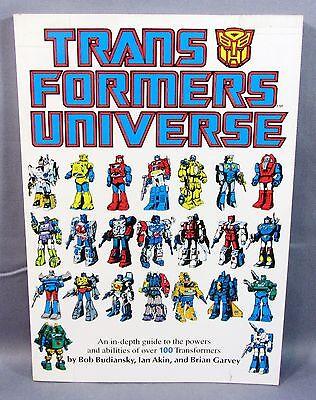 TRANSFORMERS UNIVERSE TPB (1st print Trade Paperback) Nice Marvel Comics 1987