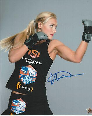 YANA KUNITSKAYA SIGNED AUTO'D 8X10 PHOTO UFC 222 INVICTA FC 20 22 25 ACB 32 M-1