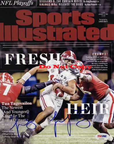Tua Tagovailoa Signed Autographed Alabama 8x10 Photo National Champ Reprint