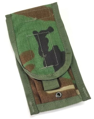 SDS Woodland Camouflage Double Rifle CQB Magazine Pouch MOLLE PALS Style 4050