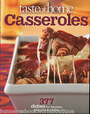 Taste Of Home Casseroles Brand New Cookbook Recipes One Dish Main Entrees Easy