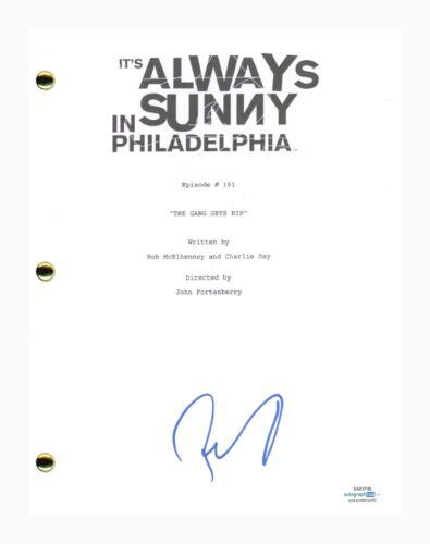 Rob McElhenney Signed It's Always Sunny in Philadelphia Pilot Script ACOA COA